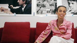 Agnès Saal au siège de l'INA à Bry-sur-Marne, le 31 juillet 2014. (DOMINIQUE FAGET / AFP)