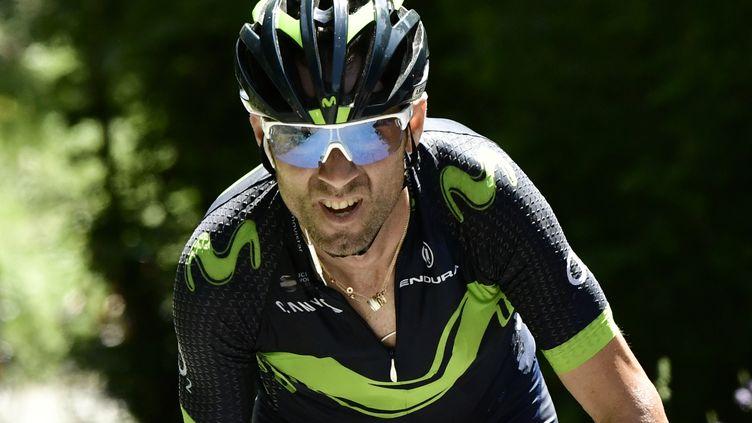 Alejandro Valverde sur le Critérium du Dauphiné 2017. (PHILIPPE LOPEZ / AFP)