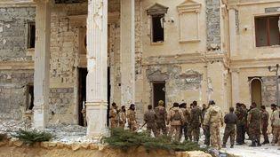 Des soldats syriens à Palmyre (Syrie), le 24 mars 2016. (AFP)