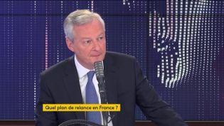 """Bruno Le Maire, ministre de l'Economie, était l'invité du """"8h30 franceinfo"""" le mardi 21 juillet 2020. (FRANCEINFO / RADIO FRANCE)"""