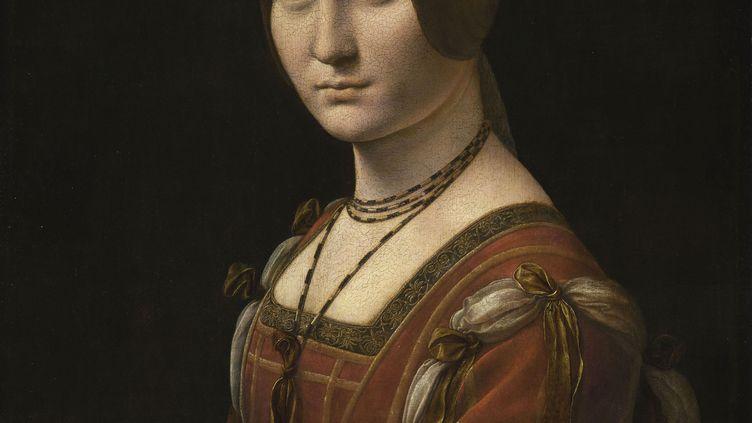 """Léonard de Vinci, """"Portrait d'une dame de la cour de Milan"""", dit à tort """"La Belle Ferronnière"""" (détail) (© RMN-Grand Palais (musée du Louvre) / Michel Urtado)"""