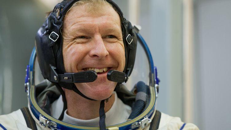 L'astronaute britannique Tim Peake lors d'un entraînement en simulateur, le 11 novembre 2015 à Star City, près de Moscou (Russie). (AFP)