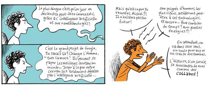 """Dans sa BD publiée en 2015 à l'occasion de la COP21, """"Les Angles Morts"""", l'auteur nantais Gwen de Bonneval raconte la profonde déprime d'un personnage inquiet pour le futur de la planète (GWEN DE BONNEVAL / PROFESSEUR CYCLOPE / ARTE CREATIVE)"""