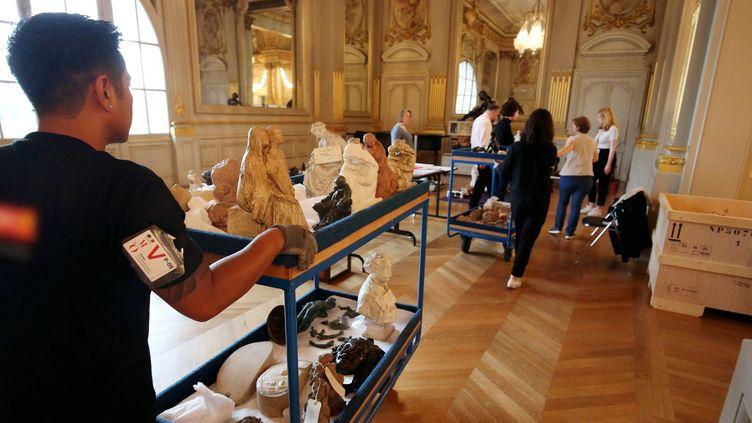Déménagement préventif au Musée d'Orsay  (PHOTOPQR/LE PARISIEN/MAXPPP)