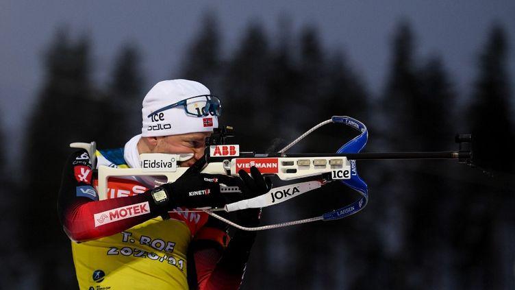 Tarjei Boe s'impose sur la poursuite de Nove Mesto le 7 mars 2021 (ALEXEY FILIPPOV / SPUTNIK)