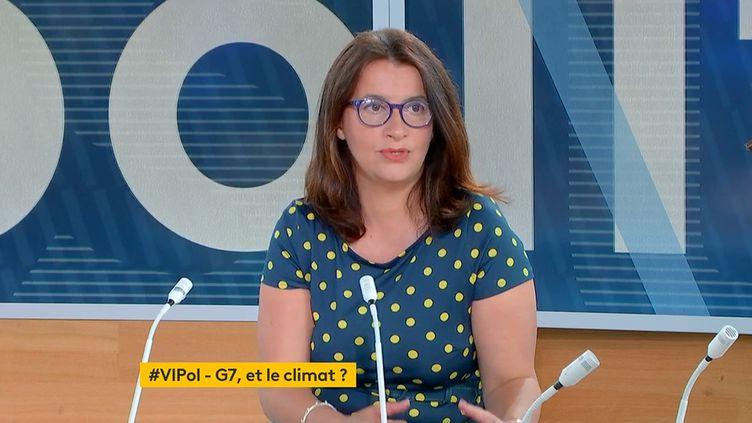 """Cecile Duflot dans """"Votre instant politique"""" sur la chaîne franceinfo, le 11 juin 2021. (FRANCEINFO)"""