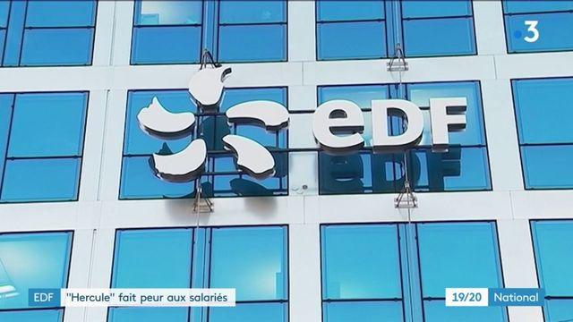 """EDF : les salariés en grève contre le projet """"Hercule"""""""