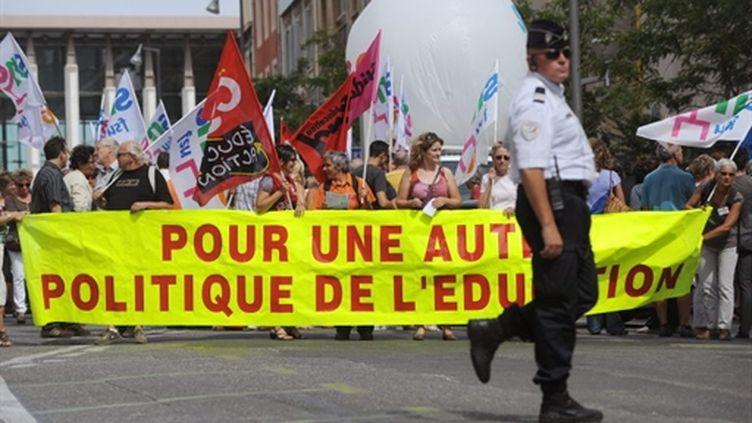 Manifestation d'enseignants le 6 septembre 2010 à Marseille (AFP - Gerard Julien)