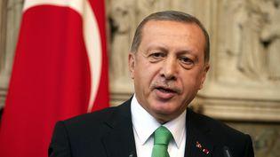 Recep Tayyip Erdogan, le 6 octobre 2015, à Bruxelles (Belgique). (NICOLAS MAETERLINCK / BELGA MAG / AFP)