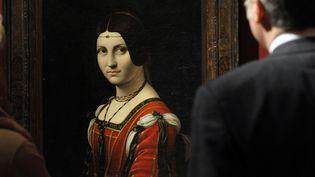 """""""La Belle Ferronnière"""" de Léonard de Vinci. Musée du Louvre  (TIMOTHY A. CLARY / AFP)"""