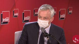 Bruno Le Maire, le 11 janvier 2020 sur France Inter. (FRANCEINTER / RADIOFRANCE)