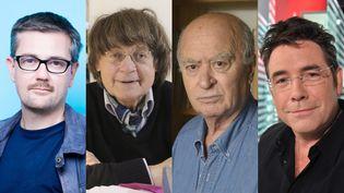 Les dessinateurs Charb, Cabu, Wolinski et Tignous (de gauche à droite). (SIPA)