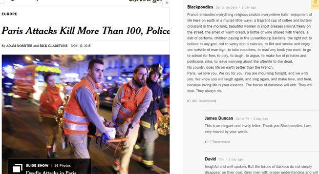 (Texte NYT © Capture d'écran New York Times)