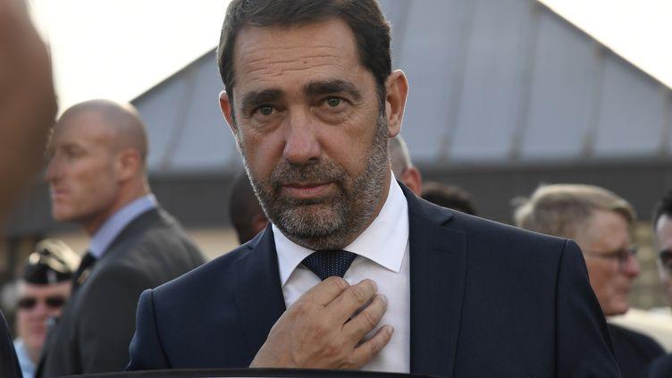 Le ministre de l'Intérieur Christophe Castaner à Fosses (Val-d'Oise), le 16 octobre 2018. (BERTRAND GUAY / AFP)