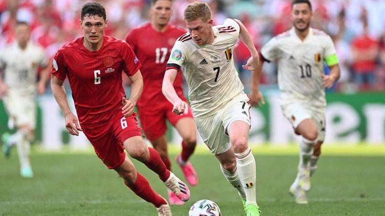 Le Belge Kevin De Bruyne, détonateur de la victoire des Diables Rouges contre le Danemark (2-1), jeudi 17 juin 2021. (STUART FRANKLIN / POOL)