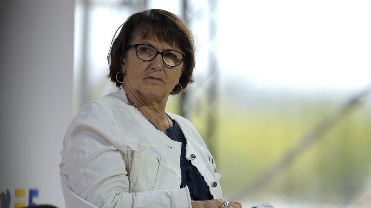 Christiane Lambert, le 27 août 2020. (ERIC PIERMONT / AFP)