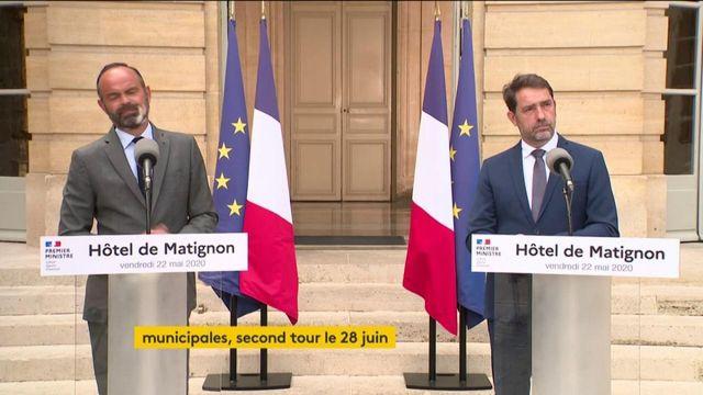 Elections municipales : revivez l'allocution d'Edouard Philippe et de Christophe Castaner sur l'organisation du second tour