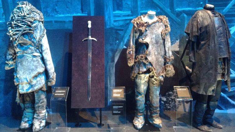 (Quelques costumes de l'exposition Game of thrones  © Estelle Cognacq/ Radio France)