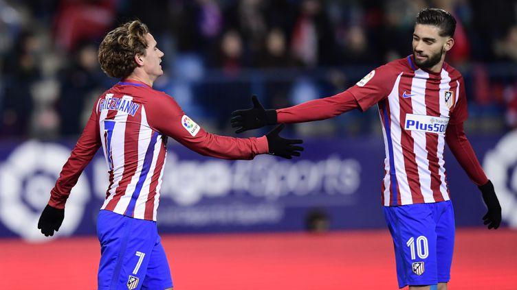 Antoine Griezmann et Yannick Ferreira Carrasco, tous décisifs face à Vigo (JAVIER SORIANO / AFP)