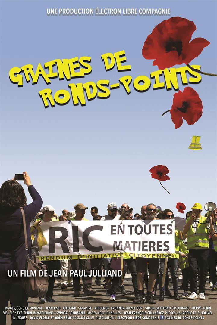 """L'affiche de """"Graines de ronds-points"""" de Jean-PaulJulliand. (Electron Libre Compagnie)"""