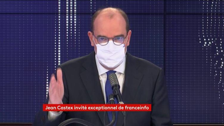 Le Premier ministre Jean Castex sur franceinfo le 12 octobre 2020. (FRANCEINFO / RADIO FRANCE)