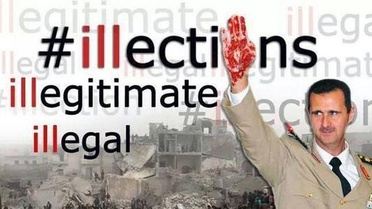 Une photo montage pour dénoncer ces élections. (DR)