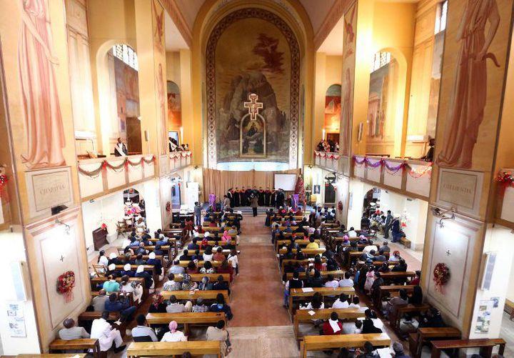 L'église Saint-François. L'une des plus anciennes églises de Tripoli (Photo AFP/Mahmud Turkia)