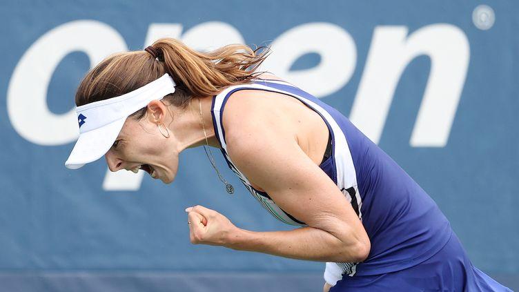 La Française Alizé Cornet s'est qualifiée pour la première fois en huitième de finale de l'US Open.  (AL BELLO / GETTY IMAGES NORTH AMERICA)