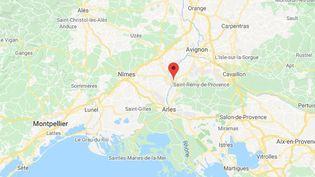 La commune de Tarascon dans les Bouches-du-Rhône. (GOOGLE MAPS / FRANCETV INFO)