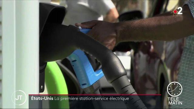 Aux États-Unis, la première station-service électrique voit le jour