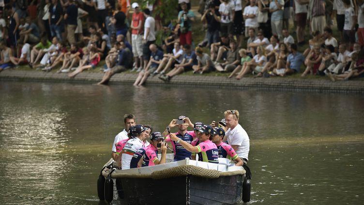 La Lampre-Merida sera sur le Tour de France pour prendre des étapes. (JEFF PACHOUD / AFP)