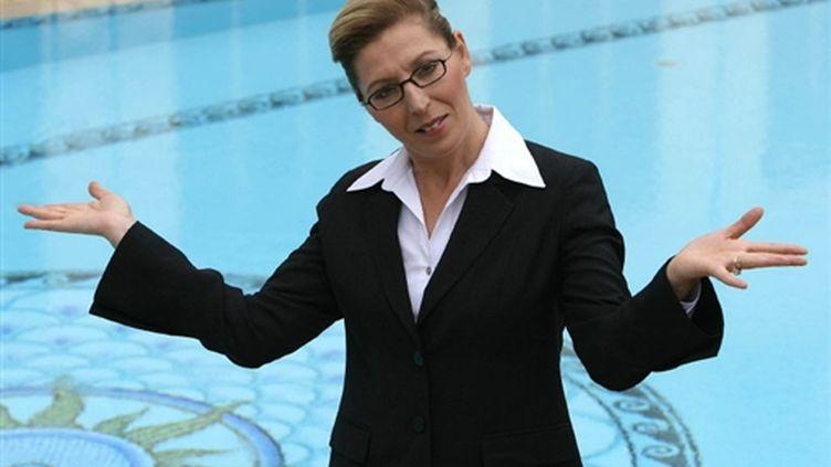 Cathy Sarraï, en 2005, à Cannes au MIPTV. (AFP)