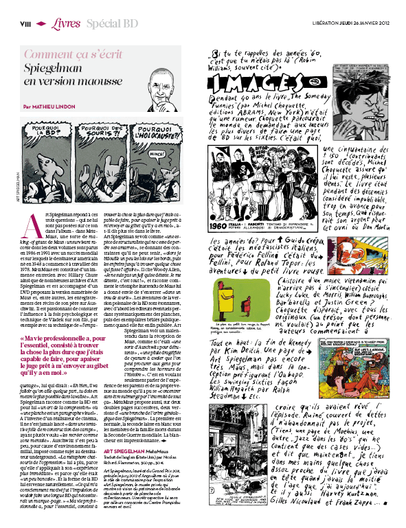 Libération spécial BD  (Libération)