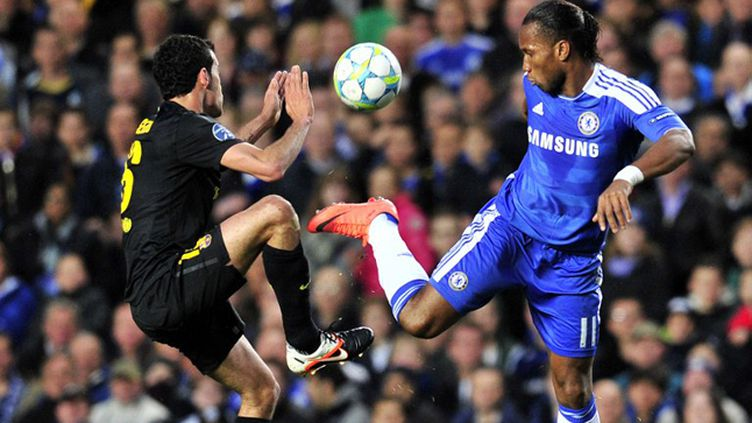 L'attaquant Didier Drogba a encore brillé en Ligue des Champions