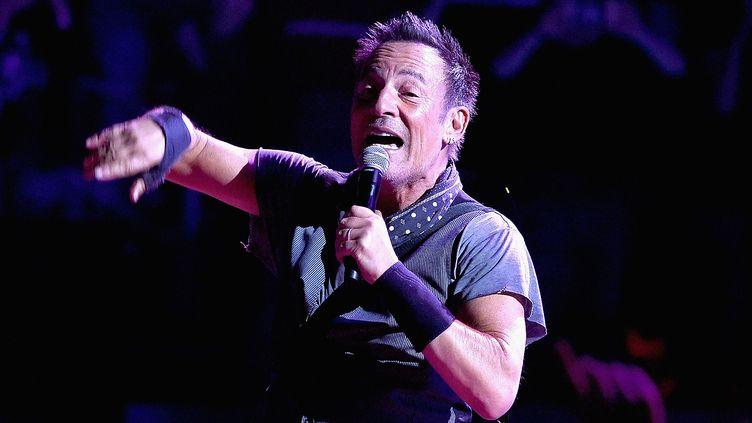 Bruce Springsteen le 28 mars 2016 au Madison Square Garden de New York.  (Jamie McCarthy / Getty Images / AFP)