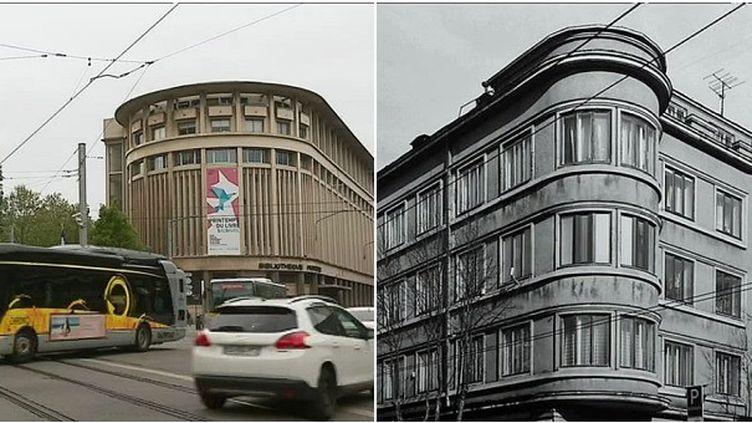 A droite l'architecture de Grenoble et à droite celle de Kaunas  (France 3 / Culturebox)