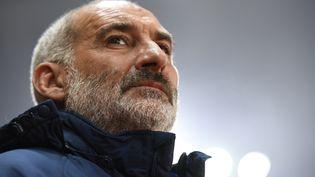 François Ciccolini, entraîneur du Stade lavallois. (DAMIEN MEYER / AFP)