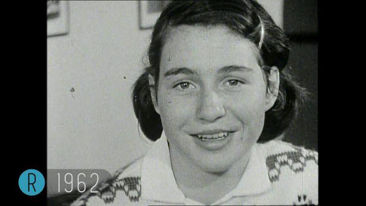 Marielle Goitschel en 1962 à Val d'Isère (France 3 / INA)