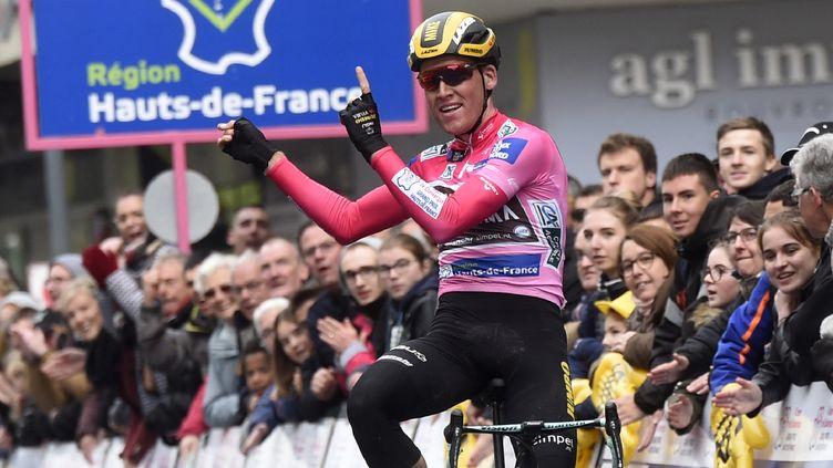 Mike Teunissen, dernier vainqueur des 4 jours de Dunkerque, le 17 mai 2019. (FRANCOIS LO PRESTI / AFP)