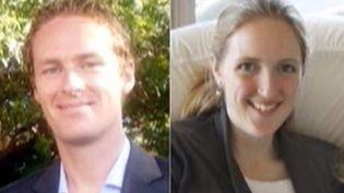 Capture d'écran montrant le deux victimes australiennes sur les médiasdu pays ( FRANCE 2)