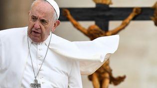 La pape François, le 15 mai 2019, au Vatican. (VINCENZO PINTO / AFP)
