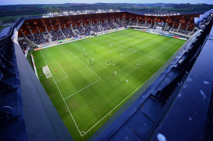 La Pancho Arena de Felcsut, inaugurée en 2014 (ATTILA KISBENEDEK / AFP)