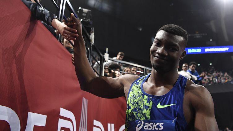 Hugues Zango a écrasé le record établi par son entraîneur Teddy Tamgho. (STEPHANE KEMPINAIRE / KMSP)