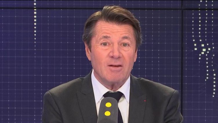 Le maire Les Républicains (LR) de Nice, Christian Estrosi, était l'invité du 8h30 Fauvelle/Dély, mardi 29 janvier 2019. (FRANCEINFO / RADIOFRANCE)