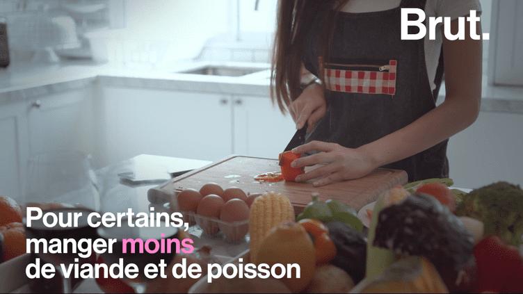 VIDEO. Vous ne mangez de la viande qu'à de rares occasions ? Peut-être êtes-vous flexitarien (BRUT)