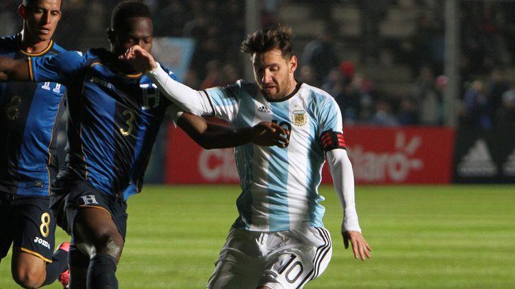 Lionel Messi avec l'Argentine face au Honduras (MARCOS URISA / EFE)