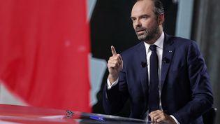 Le Premier ministre, Edouard Philippe, lors de l'émission politique de France 2, le 27 septembre 2018. (GEOFFROY VAN DER HASSELT / AFP)