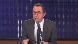 Bruno Retailleau, président du groupe LR au Sénat et sénateur de la Vendée, invité de franceinfo jeudi 14 janvier 2021.  (FRANCIENFO / RADIO FRANCE)