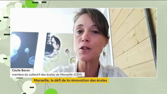 """Dans les établissements scolaires de Marseille, """"les enfants et les familles sont accueillis dans des conditions inacceptables"""", estime une membre du collectif des écoles de Marseille (CEM)"""