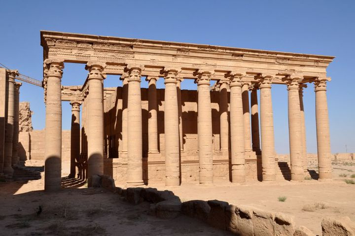 Le temple de Mrn à Hatra, en Irak, édifié à la période romaine.  (Hubert Debbasch / AFP)